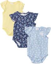 Laura Ashley Girls' 3Pk Bodysuit Set