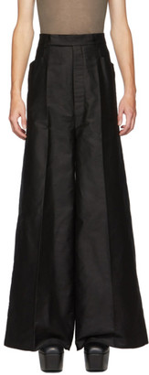 Rick Owens Black Oversized Larry Trousers