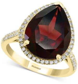 Effy Rhodolite Garnet (8-5/8 ct. t.w.) & Diamond (1/3 ct. t.w.) Pear Statement Ring in 14k Gold