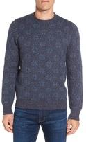 Grayers Men's Snowflake Wool & Cotton Crewneck Sweater