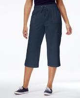 Karen Scott Petite French-Terry Pull-On Capri Pants, Created for Macy's
