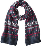 Joe Fresh Men's Fair Isle Knit Scarf, JF Midnight Blue (Size O/S)