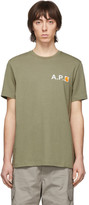 A.P.C. Green Carhartt WIP Edition Fire T-Shirt