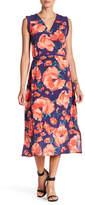 Joe Fresh Floral Surplice Midi Dress