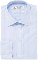 Turnbull & Asser - Blue Slim-fit Prince Of Wales Checked Cotton Shirt