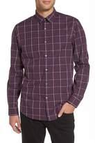 CALIBRATE Windowpane Long Sleeve Trim Fit Shirt