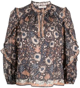 Ulla Johnson Manet floral-print long-sleeved blouse