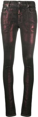 Rick Owens Metallic Skinny Fit Jeans