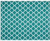 Pottery Barn Becca Tile Reversible Indoor/Outdoor Rug - Teal
