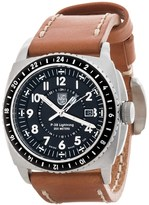 Luminox P-38 Lightning GMT Stainless Steel Watch - Leather Strap (For Men)