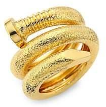 David Webb Women's Tool Chest 18K Yellow Gold Nail Ring