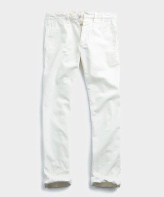 Todd Snyder Japanese Garment Dyed Selvedge Chino In Off White