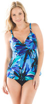 Chico's Beach Blooms Wrap-Front Tankini Top