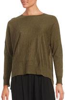 Eileen Fisher Wool-Blend Hi-Lo Sweater