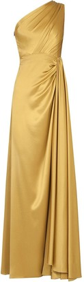 Dolce & Gabbana One-Shoulder Silk Dress