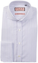 Thomas Pink Browes Slim Fit Twill Stripe Dress Shirt