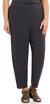 Eileen Fisher Plus Slouchy Ankle Pants