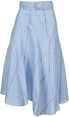 J.W.Anderson Striped Belted Skirt