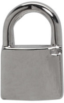 Lauren Klassen White Gold Tiny Padlock Earring