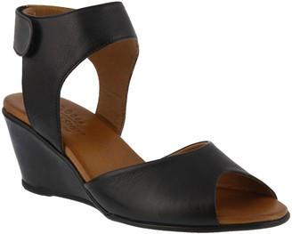 Spring Step Leather Ankle Strap Sandals - Marjory