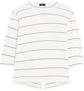 Bassike Split-back Striped Organic Cotton-jersey Top - medium