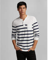 Express long sleeve striped cotton henley