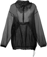 Maison Margiela sheer loose fit hoody - women - Silk - 38