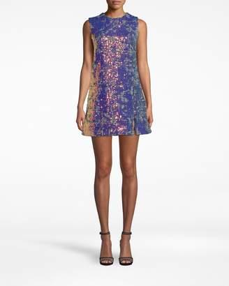 Nicole Miller Sequin Tweed Shift Dress