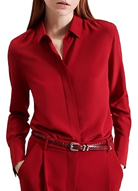 Barbara Bui Silk Crepe de Chine Shirt