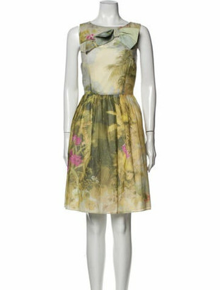 RED Valentino Printed Knee-Length Dress Red