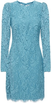 Rebecca Vallance Mae Scalloped Corded Lace Mini Dress