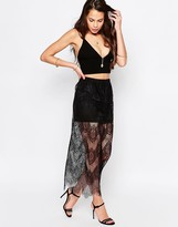Goldie Lost Lead Midi Skirt In Lace