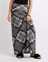 Charlotte Russe Printed Maxi Skirt