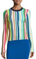 Milly Vertical Striped Rainbow Pullover