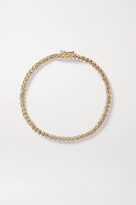 STONE AND STRAND 10-karat Gold Diamond Bracelet - one size
