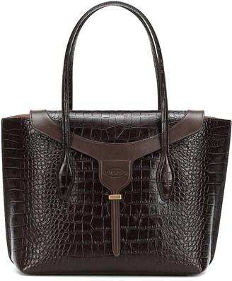 Tod's Joy Medium croc-effect leather tote