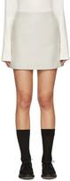 YMC Grey Wool Neoprene Miniskirt