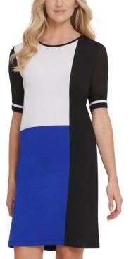 DKNY Colorblocked T-Shirt Dress