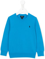Ralph Lauren embroidered logo jumper - kids - Cotton - 12 yrs