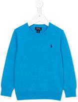 Ralph Lauren embroidered logo jumper - kids - Cotton - 2 yrs