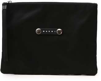 Marni Logo Plaque Clutch Bag
