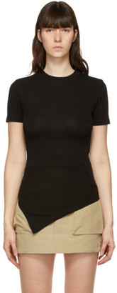 ANDERSSON BELL SSENSE Exclusive Black Asymmetric Ruched Cindy T-Shirt