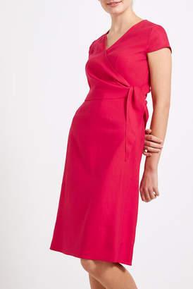 Sportscraft Anna Linen Blend Wrap Dress