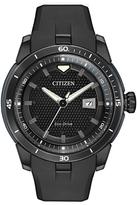 Citizen Black Rubber-Strap EcoSphere Bracelet Watch - Men