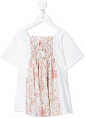 Bonpoint smocked floral print T-shirt