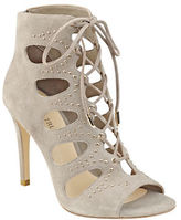Ivanka Trump Dazy Embellished Suede Lace-Up Booties