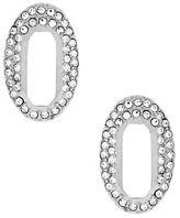 Louise et Cie Paved Link Stud Earrings