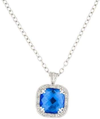Charriol Blue Quartz & Diamond Pendant Necklace