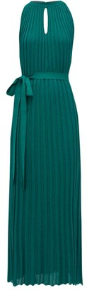 Missoni Pleated Lurex-knit Dress - Light Green