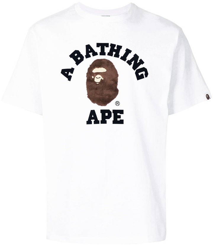 A Bathing APE BAPE Tie-dyed Coloured Embroidery Short Sleeves T-Shirts M-XXXL /&